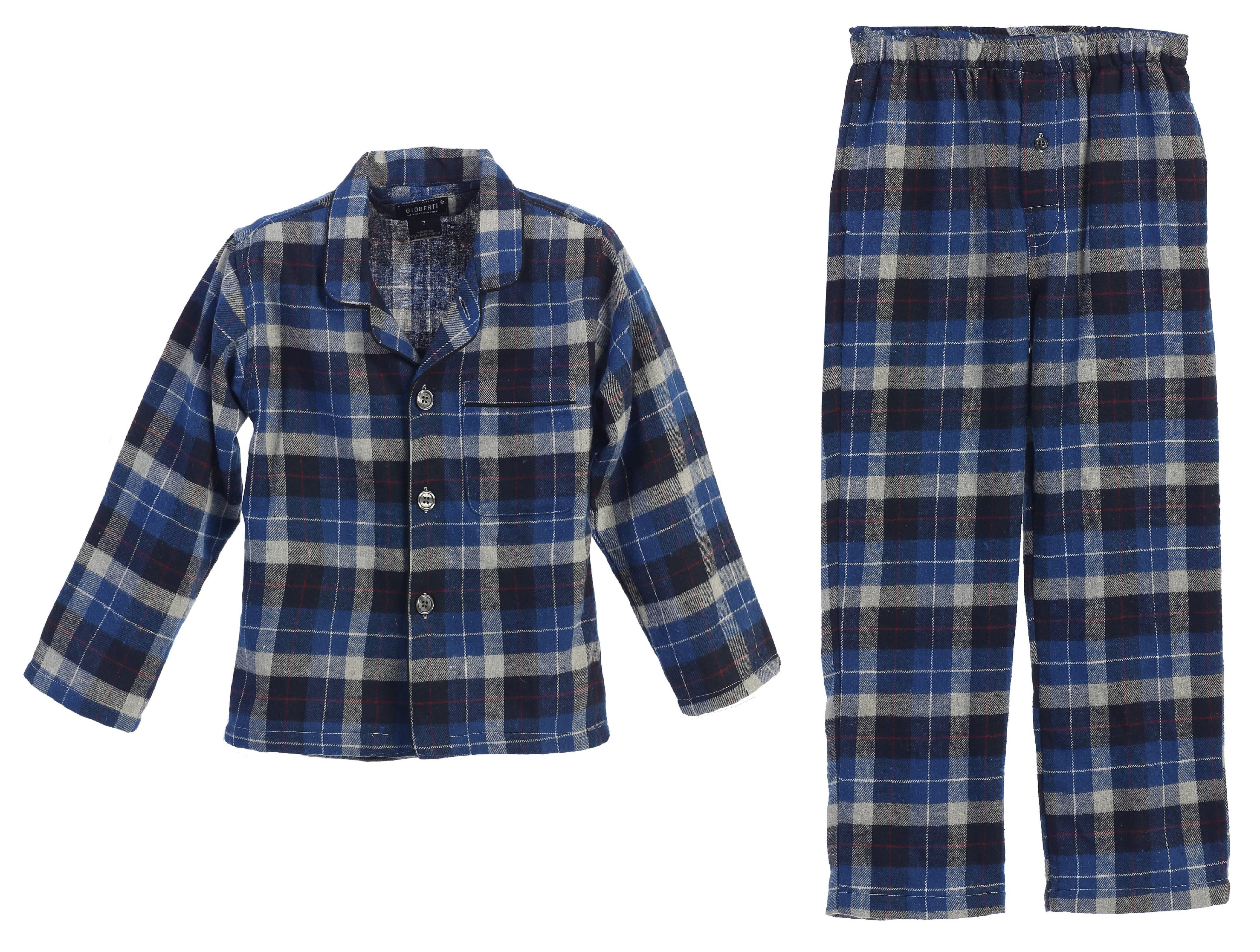 Gioberti Boys Yarn Dye Brushed Flannel Lounge /& Pajama Pants with Elastic Waist