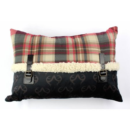 Plaid Buckles Boudoir Pillow by Realtree