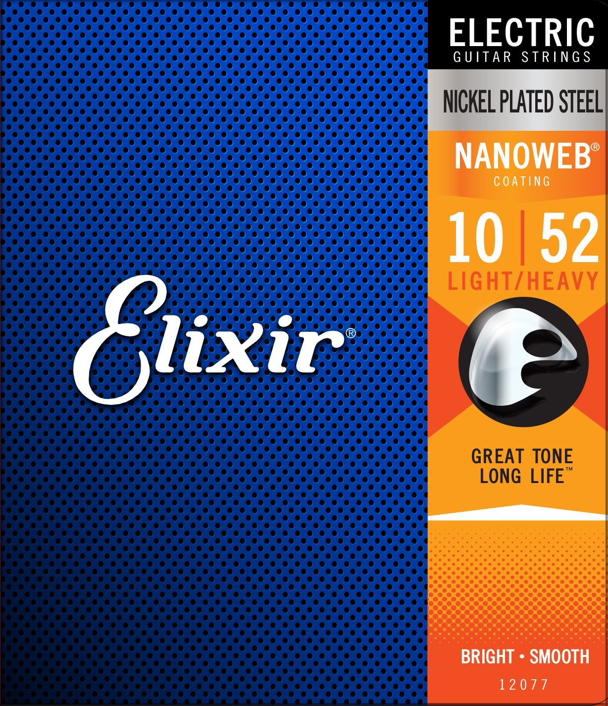 Strings Electric Guitar Strings w NANOWEB Coating, Light Heavy (.010-.052), Electric... by