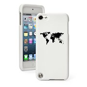 Apple iPod Touch 5 5th Generation Rubber Hard Case Cover World Map (White)
