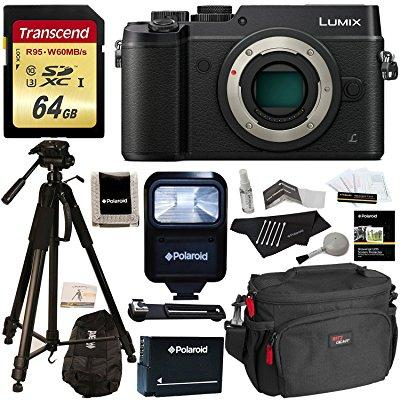 Panasonic DMC-GX8KBODY LUMIX GX8 Interchangeable Lens DSLM Camera Body Only + Transcend 64 GB High Speed +... by Panasonic