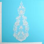 Expo Int'l Vintage Teardrop Flower Bridal Applique