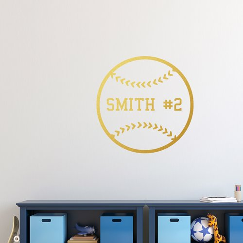 Zoomie Kids Kincannon Baseball Wall Decal