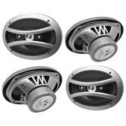 "4) VM Audio EXS690.4 6x9"" 600 Watt 4-Way Full Range Coaxial Car Speakers (Four)"