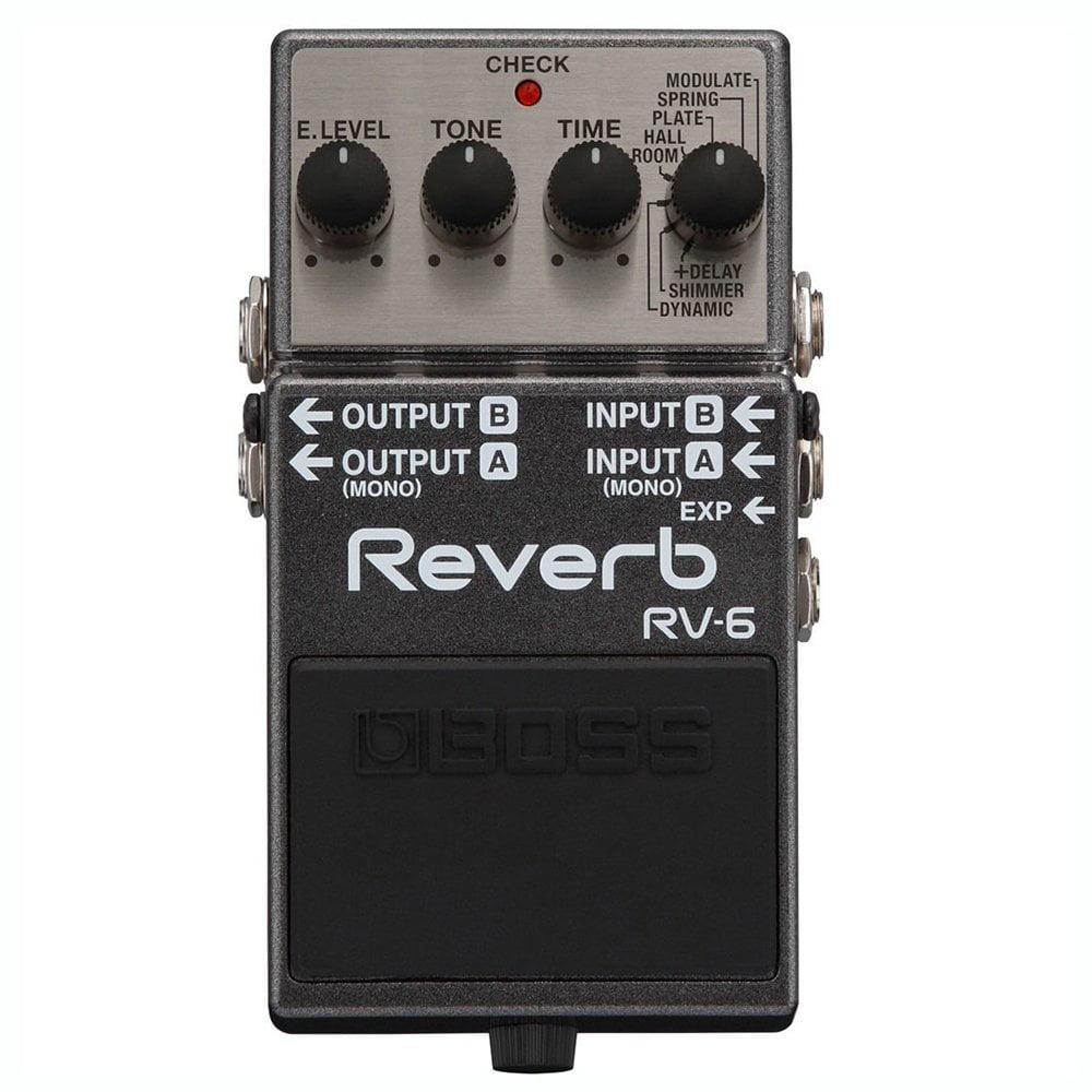 Boss RV-6 Multi Effects MultiStomp Chorus Delay Reverb Guitar Pedal Stompbox by Zoom
