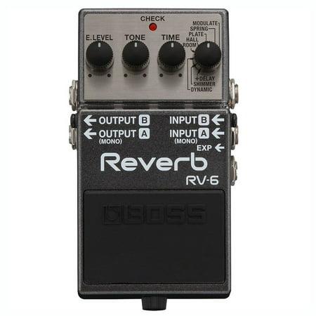 Boss RV-6 Multi Effects MultiStomp Chorus Delay Reverb Guitar Pedal Stompbox (Delay Reverb Pedal)