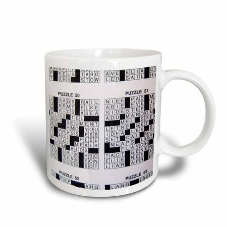 3dRose Never A Cross Word, Ceramic Mug, 11-ounce