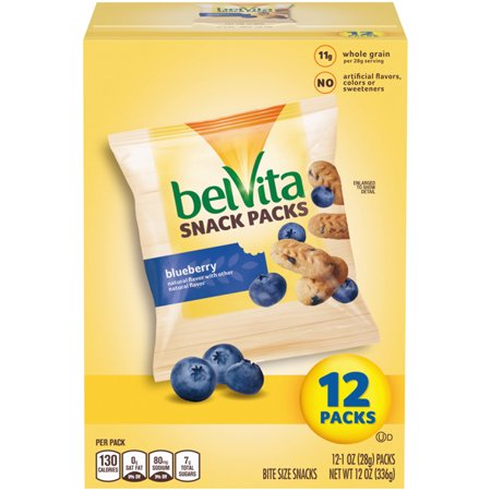 Fun Kids Halloween Snacks (belVita Bites Mini Breakfast Biscuits, Blueberry Flavor, 12 Snack Packs (1 oz), 1.0)