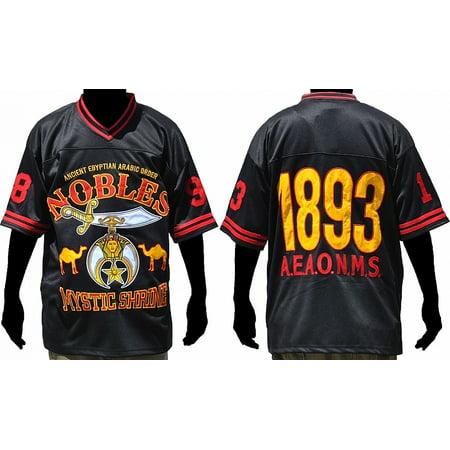 50ec96e85 Cultural Exchange - Shriner Ancient Egyptian Arabic Order Noble Mens  Football Jersey  Black - XL  - Walmart.com