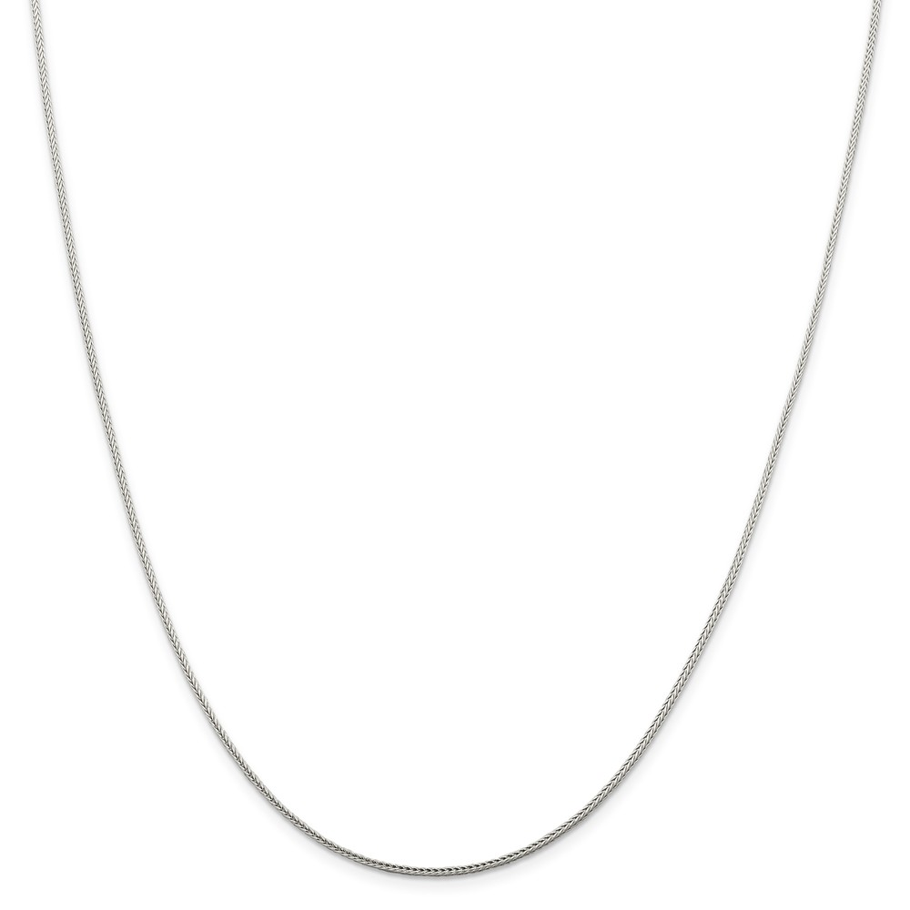 "925 Sterling Silver 1.45mm Diamond-Cut Round Franco Necklace Chain -16"" (16in x 1.45mm)"