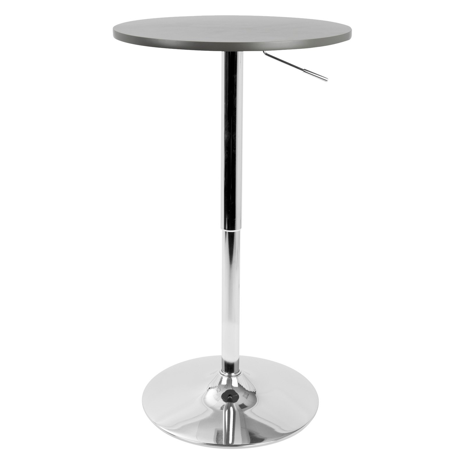 Adjustable Contemporary Bar   Pub Table in Grey by Lumisource by LumiSource