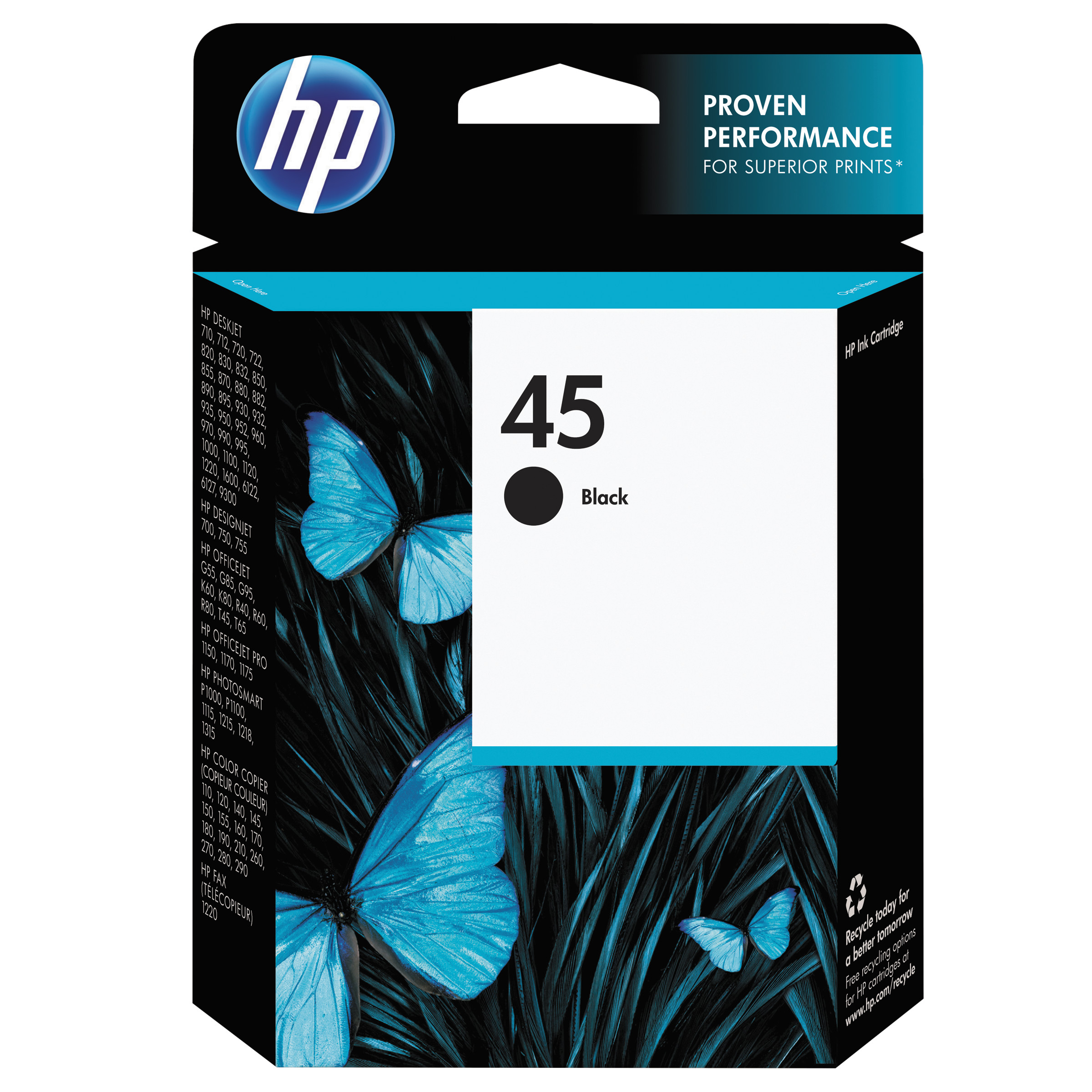 HP 45, (51645A) Black Original Ink Cartridge -HEW51645A by HP