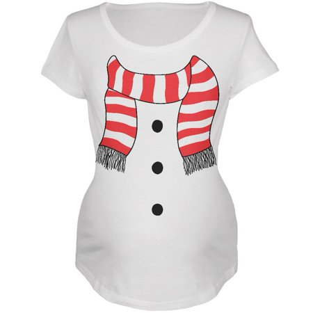 Snowman Suit Costume White Maternity Soft T-Shirt for $<!---->