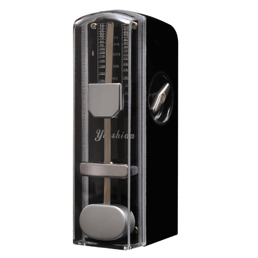 Black Quality Super Mini Guitar Mechanical Metronome 11cm Height Mobile Metronome New by