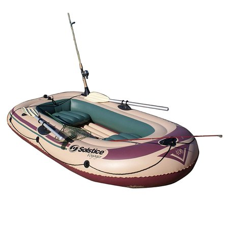 (Solstice Swimline Voyager 30400 Inflatable 4 Person Fishing Leisure Boat Raft)