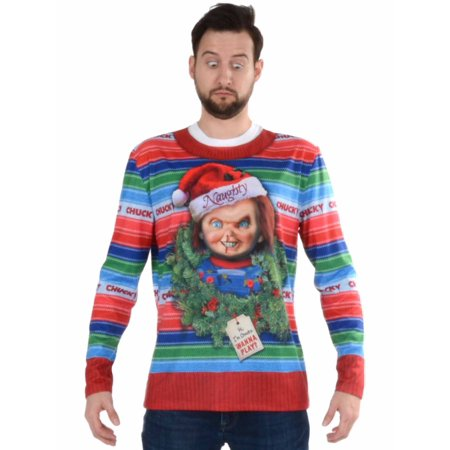 Chucky Ugly Christmas Sweater Men's Adult Costume - Chucky Halloween Costume For Infants