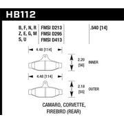 Hawk 84-96 Corvette /88.5-97 Pontiac Firebird HPS Street Rear Brake Pad