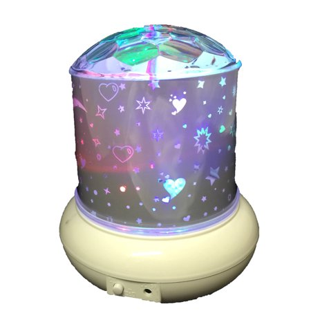 - Creative Motion Kids Night Light Project Stars Moon to wall and ceiling