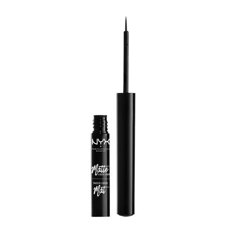 NYX Professional Makeup Matte Liquid Liner, Black - Cat Halloween Makeup With Eyeliner