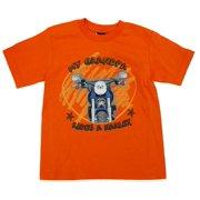 Little Boys' Grandpa Rides A T-Shirt Orange