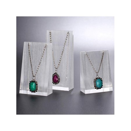 Pennant Holder - 3 Pcs Jewelry Show Case Acrylic Necklace Pendant Display Stand Holder Organizer