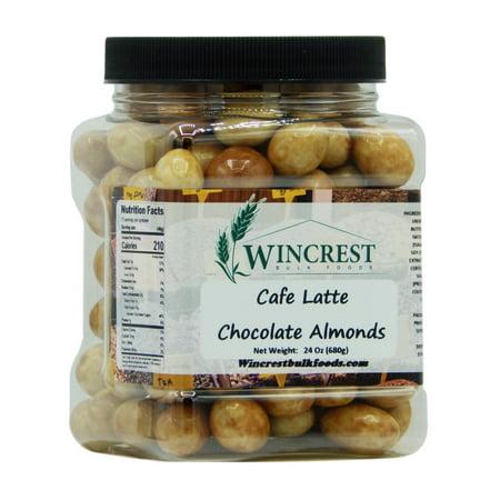 Almond Tub (Cafe Latte Milk Chocolate Almonds - 1.5 Lb Tub )