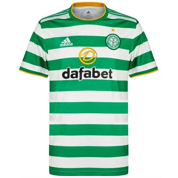 Adidas Men's Celtic Football Club Home Soccer Jersey 2020/21, White/Green