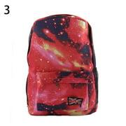 Lubelski Unisex Galaxy Space Backpack Travel Rucksack Canvas Book Storage School Bag
