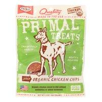 Primal Pet Foods Grain-Free Jerky Organic Chicken Chips Dry Dog Treat, 3 oz
