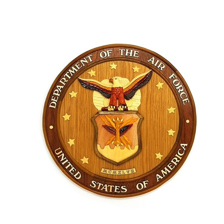 Wood Wall Hanging Insignia United States Air (Air Force Wood)