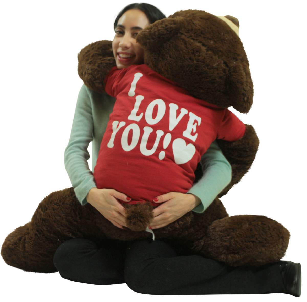 I Love You Giant Teddy Bear 36 Inch Soft Chocolate Brown Color 3 Foot