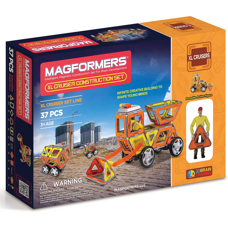 Magformers XL Cruisers Construction Set 37-Piece Magnetic Construcion Set by Magformers