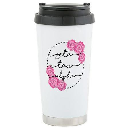 CafePress - Zeta Tau Alpha ZTA Sorority Mugs - Stainless Steel Travel Mug, Insulated 16 oz. Coffee Tumbler