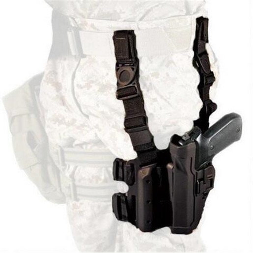 BlackHawk Level 2 Tactical SERPA Holster fits Sig 220/226/228/229, Right Hand, Black
