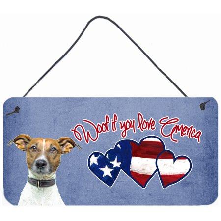 Woof if you love America Jack Russell Terrier Wall or Door Hanging Prints