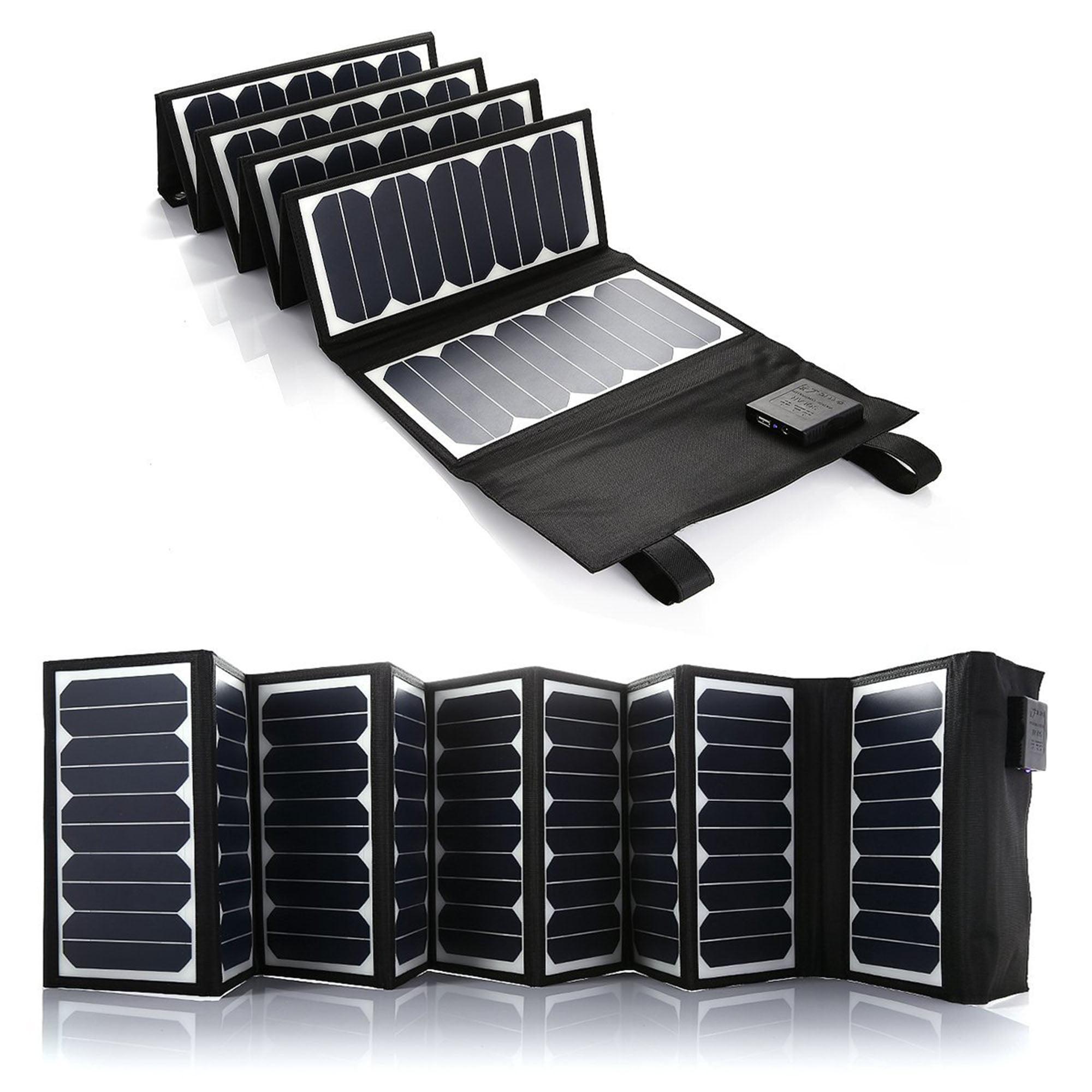 Poweradd 60W Solar Charger (5V USB + 18V DC) Portable Fol...