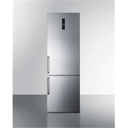 Cabinet Depth Bottom Freezer Refrigerator (Summit Appliance FFBF249SSBI 24 in. Counter Depth Bottom Freezer Refrigerator, Platinum )
