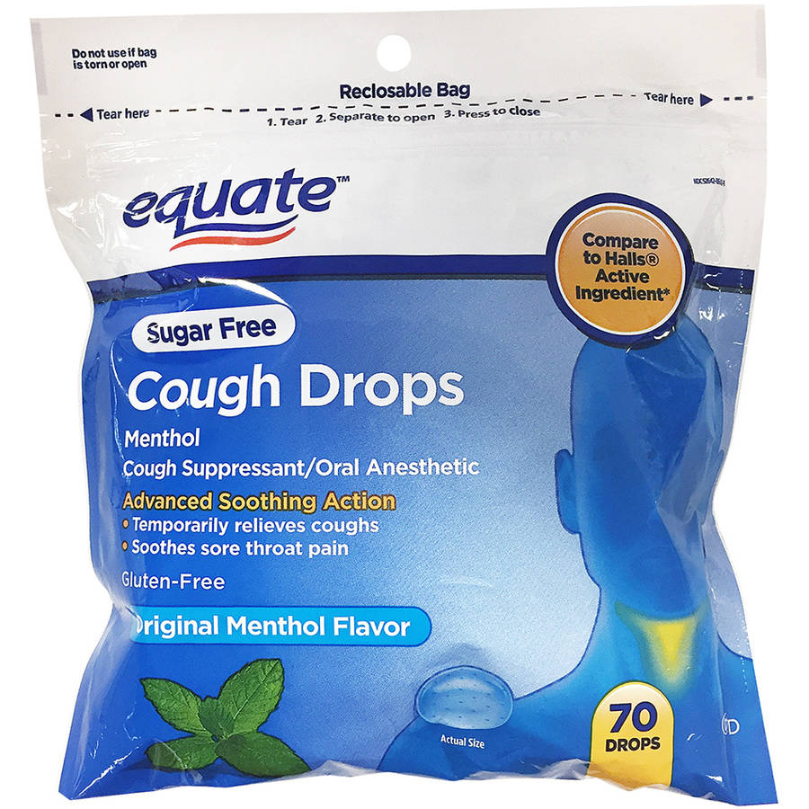 Equate Sugar Free Original Flavor Cough Drops - 70 Ct (Gluten-free)