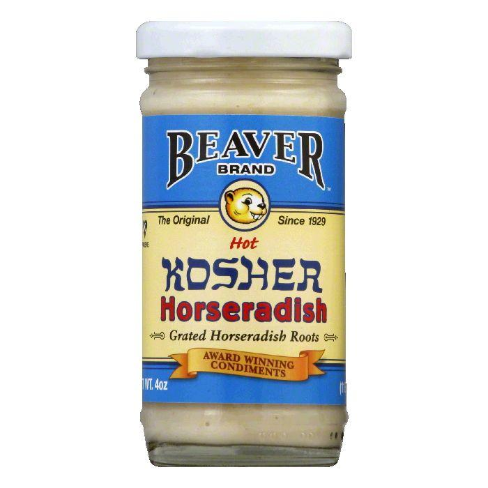 Beaver Brand Horseradish Kosher Prepared, 4 OZ (Pack of 12) by