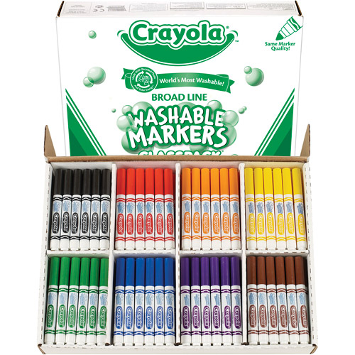 Crayola Classpack of Washable Broad Point Markers, 200-Pack