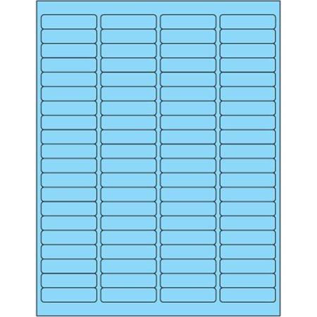 Tape Logic LL171BE 1.94 x 0.5 in. Fluorescent Pastel Blue Rectangle Laser Labels - Pack of 8000 - image 1 of 1