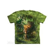 ENCHANTED TIGER Small Cotton Tigers T-Shirt Green Adult Men's Women's Short Sleeve T-Shirt