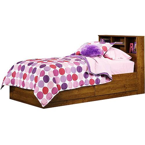 Mainstays Twin Storage Bed, Alder