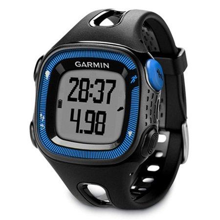 Garmin Forerunner 15 Gps Running Watch W Extra Charger   Virtual Pacer   Large Black   Blue