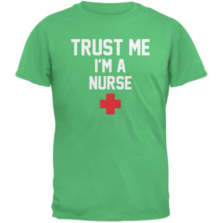 Trust Me Im A Nurse Irish Green Adult T-Shirt - Im Irish Stein