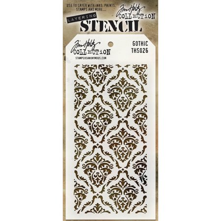 Stampers Anonymous THS-026 Tim Holtz Layered Stencil 4.125''X8.5 '' - Gothic - image 1 de 1