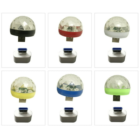 Mini Disco Light Rotating USB & Type-C Port Magic Ball Light RBG LED Lamp Portable Home Party Stage Light Random Color](Mini Disco Ball)