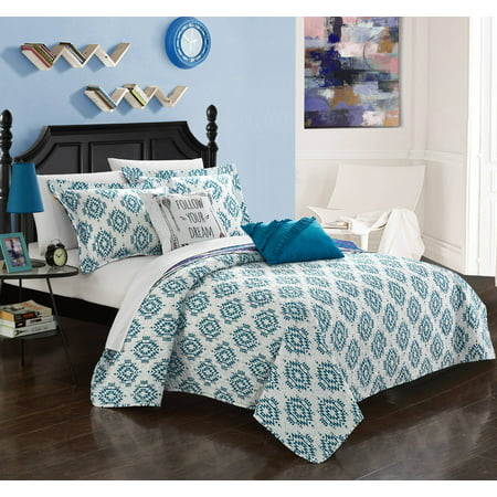 Chic Home Kammi 7 Piece Reversible Bed in a Bag Quilt Cover
