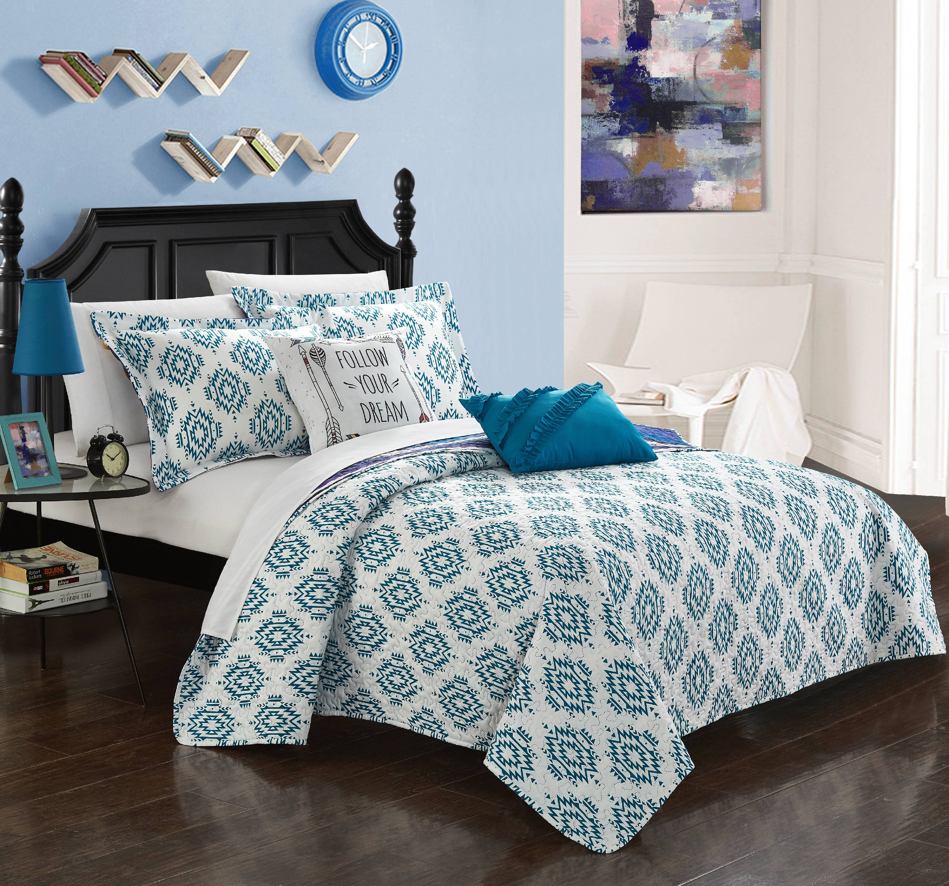 Chic Home Kammi 7 Piece Reversible Bed in a Bag Quilt Cover Set
