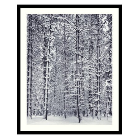 Pine Forest in the Snow, Yosemite National Park Framed Wall Art by Ansel Adams Ansel Adams Yosemite National Park